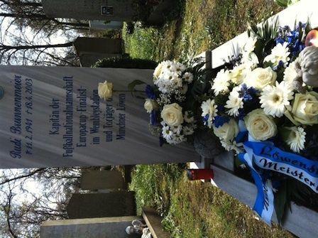 Das Grab von Rudi Brunnenmeier heute Mittag. Foto: GRISS