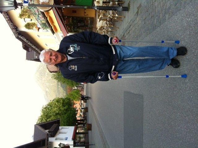 Eine 1860-Legende auf Reha in Garmisch: Petar Radenkovic. Foto: GRISS